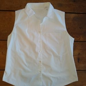 Sleeveless top button Friends style 90s vintage